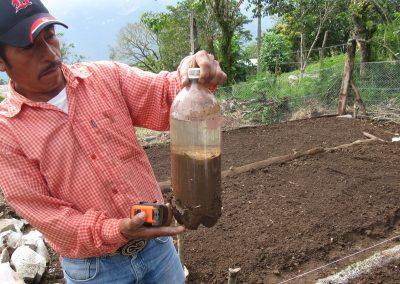 Prueba de análisis sobre la textura del tipo de suelo