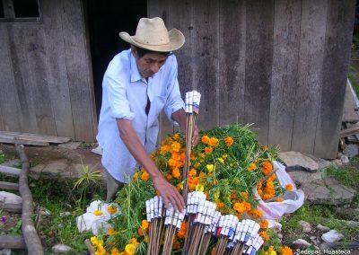 Flor de cempoalxochitl para Preparar el Altar y Cohetes para las Fiestas de Xantolo