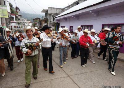Músicos en el Desfile de Santa Cecilia Xilitla S.L.P.