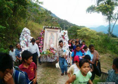 Peregrinación de la Virgen de Guadalupe Zacatipa Xilitla S.L.P.