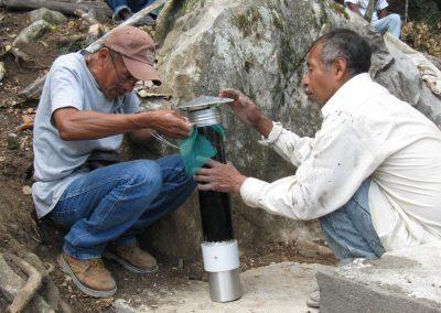 Preparando el respirador del baño seco