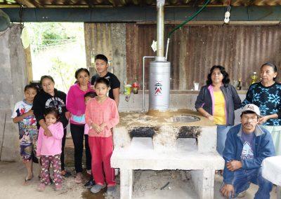Estufa Ecológica con sistema boiler